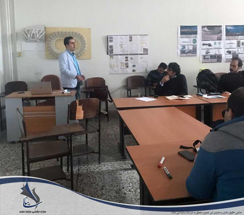 آموزش سازه چادری به دانشجویان ارشد معماری بهشتی