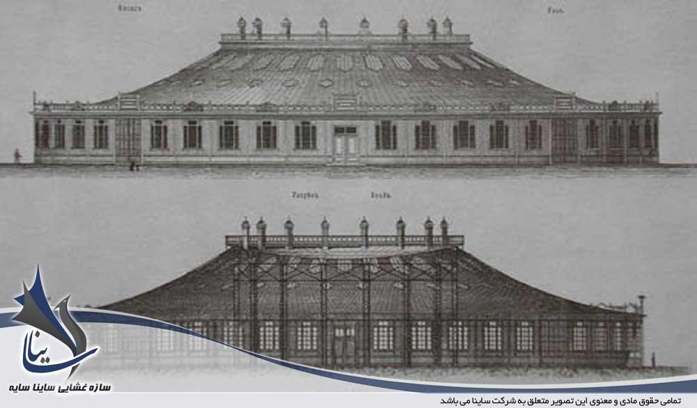 اولین سازه فولادی اجرا شده به صورت غشایی