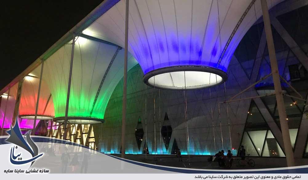 نورپردازی انواع سازه های چادری