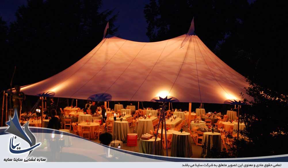 سازه چادری باغ تالار