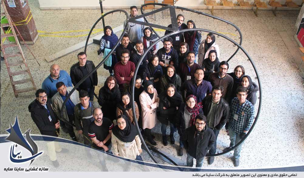 ساخت سازه چادری کارگاه شهید بهشتی