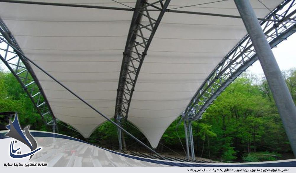 سازه چادری آمفی تئاتر