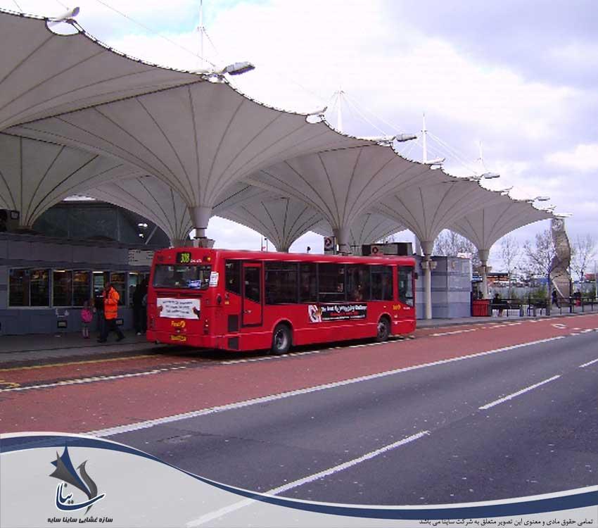 سایبان پارکینگ چادری اتوبوس و ترمینال مسافری