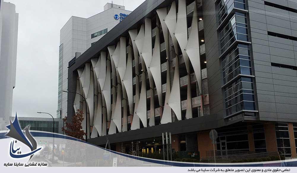 طراحی سازه پارچه ای نمای ساختمان