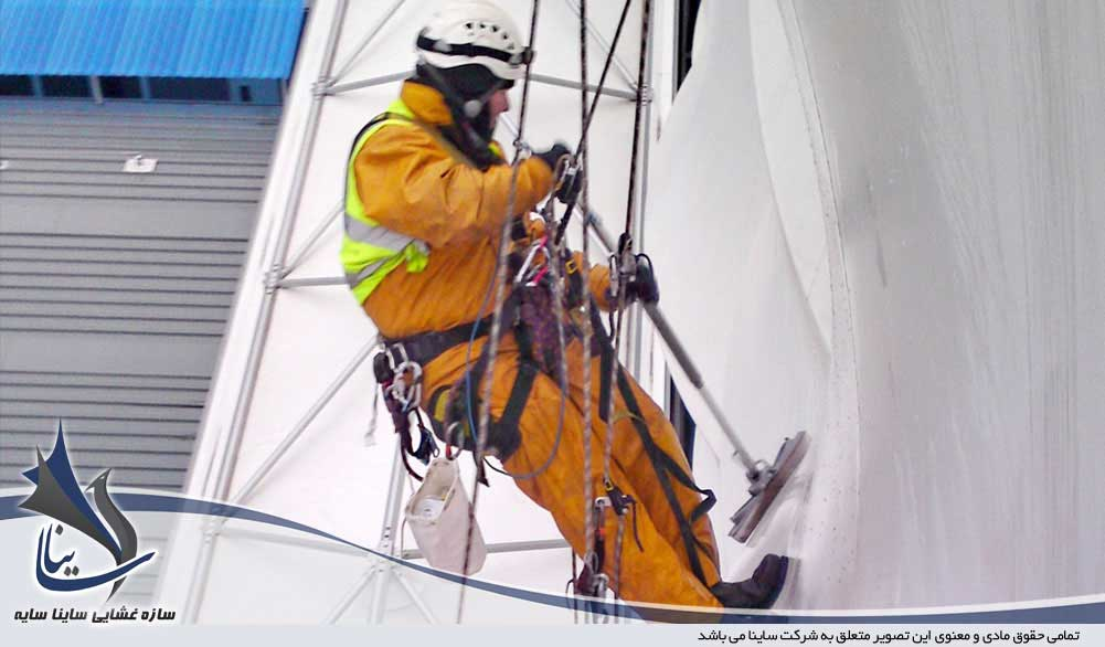 نگهداری سازه پارچه ای | تمیز کردن سازه چادری