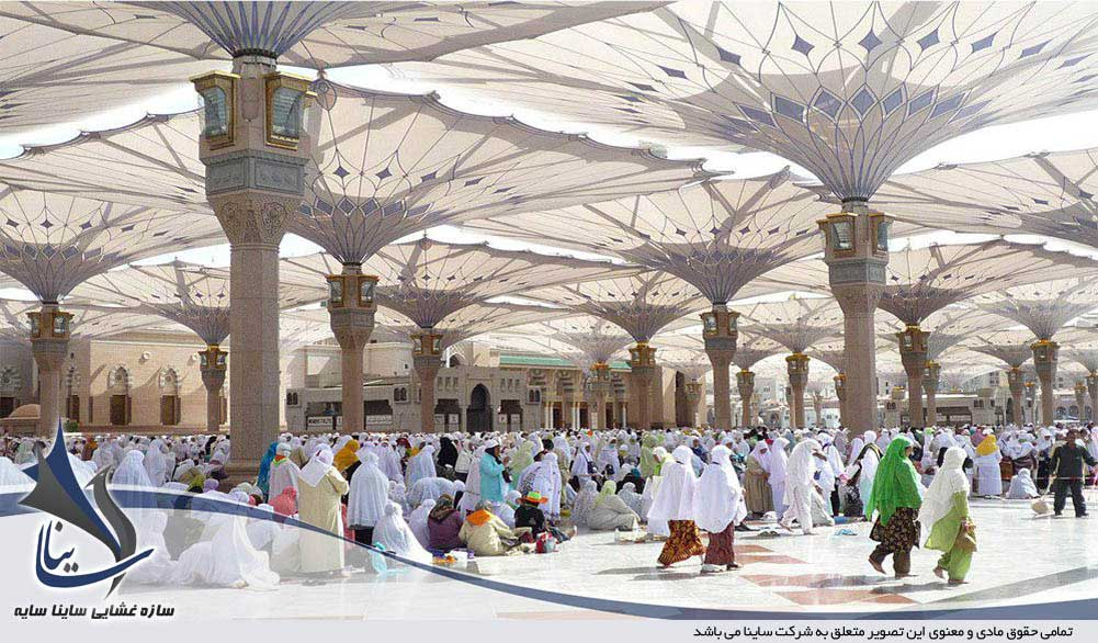 چتر جمع شونده مسجد النبی