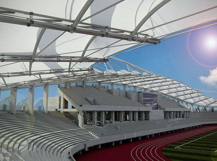 طراحی سقف پارچه ای استادیوم امام رضا