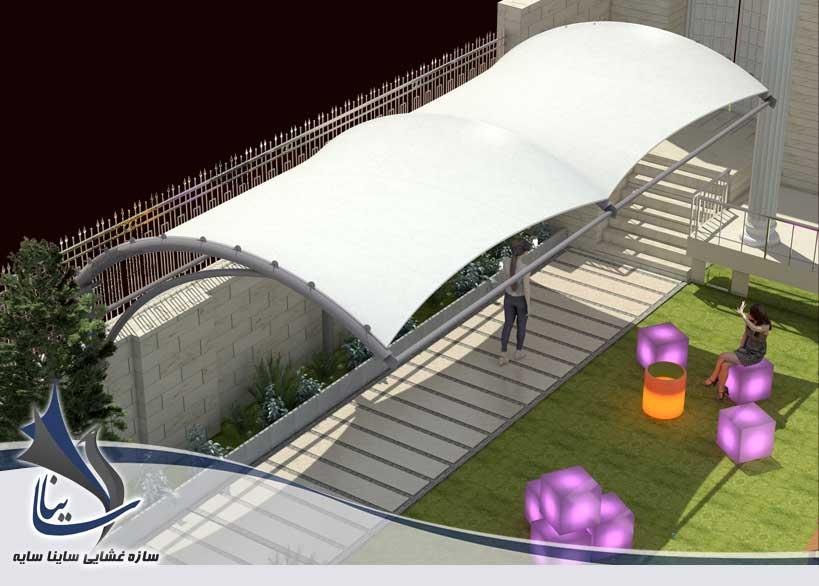 مدل سازی سه بعدی سایبان و آلاچیق در فضای بازی مهدکودک کلبه شکلاتی با فرم آرک - فرمانیه