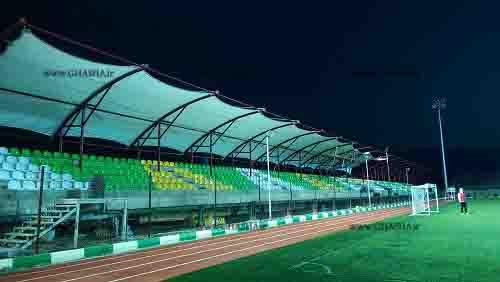 سایبان استادیوم شهداری لواسان در هنگام تحویل توسط شرکت غشا