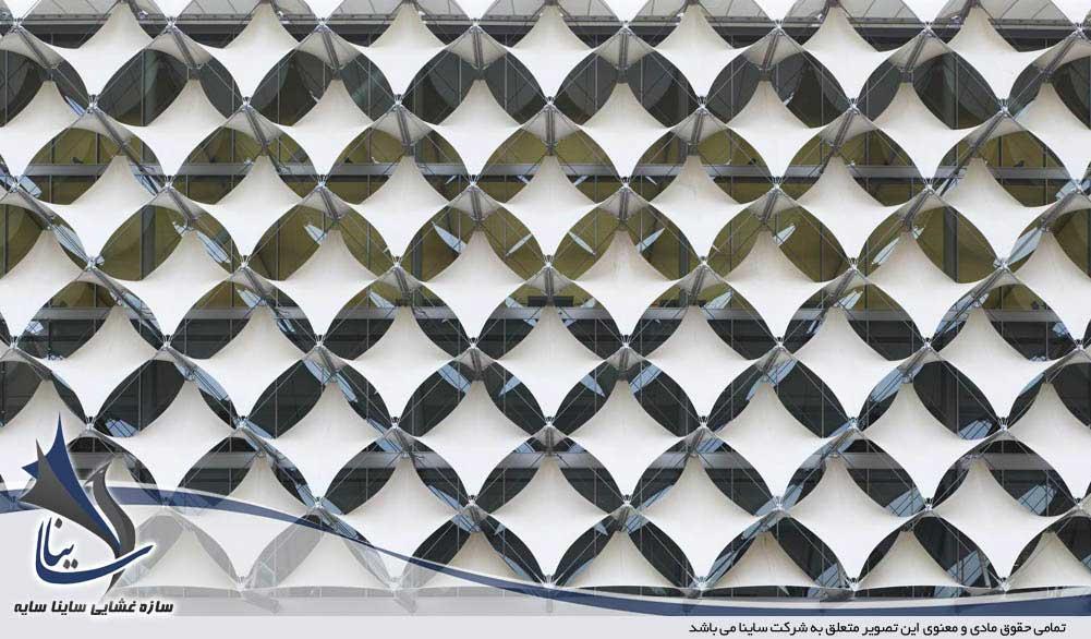 سازه نمای پارچه ای با فرم کایت
