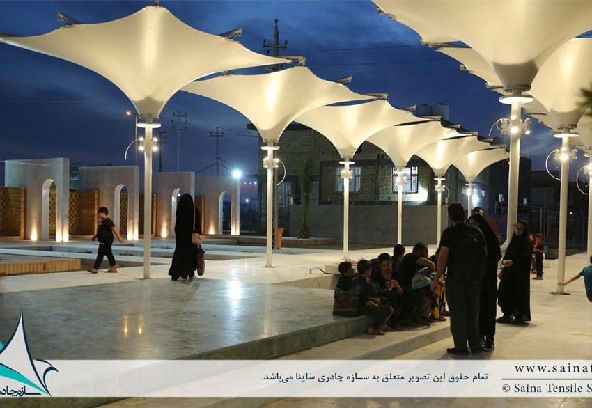 اجرای سایبان چادری دکوراتیو در کربلا ، عراق