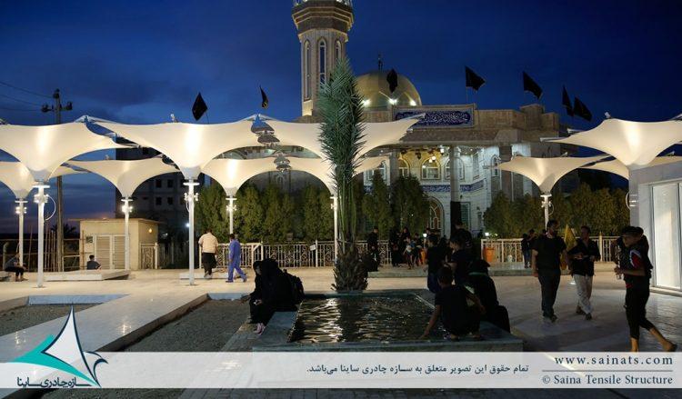 طراحی و اجرای سایبان چادری دکوراتیو در کربلا ، عراق