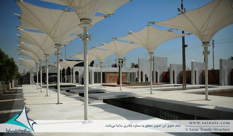 پروژه سایبان چادری دکوراتیو در کربلا ی عراق