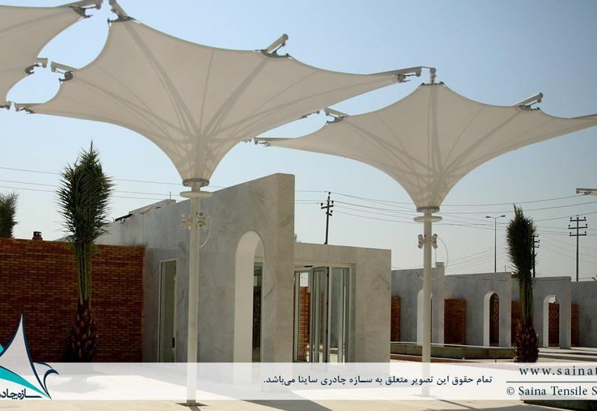 اجرای پروژه سایبان چادری دکوراتیو در کربلا ی عراق