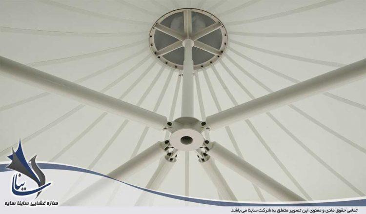آلاچیق چادری و سقف تراس پارچه ای
