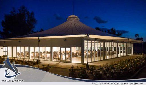 آلاچیق چادری و سقف رستوران