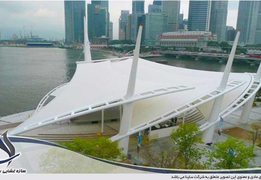 سازه پارچه ای تئاتر فضای باز سنگاپور
