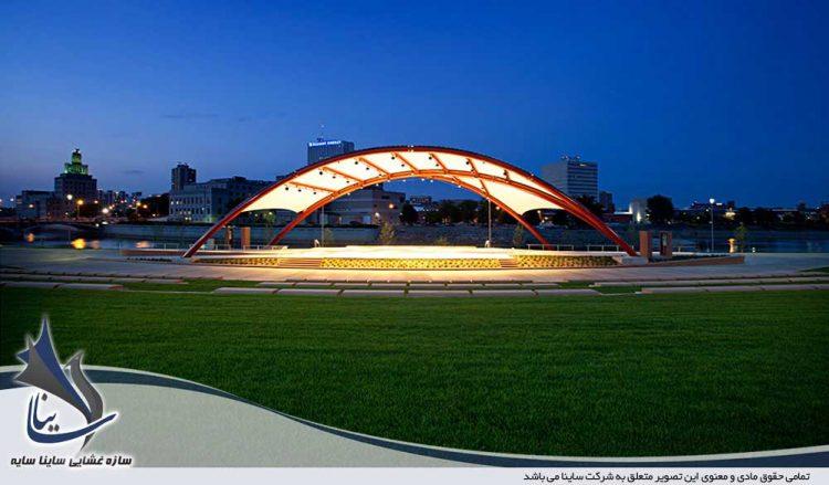 سازه چادری آمفی تئاتر شهری