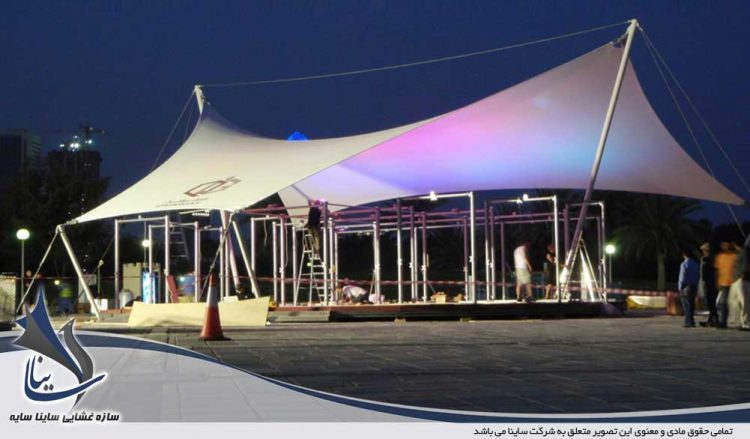 سازه چادری در نمایشگاه گاز