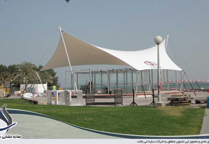 سازه چادری در نمایشگاه