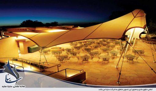 سایبان چادری کافی شاپ و سقف رستوران