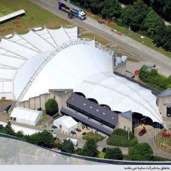 سقف پارچه ای نمایشگاه رویال