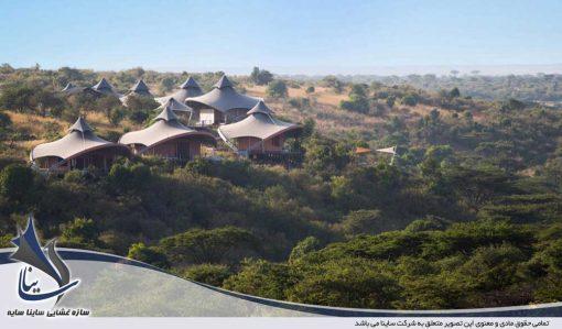 سقف پارچه ای هتل در کنیا