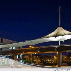 سقف چادری عابر پیاده و المان شهری