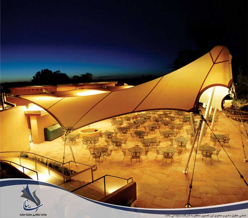 سایبان چادری و سقف رستوران