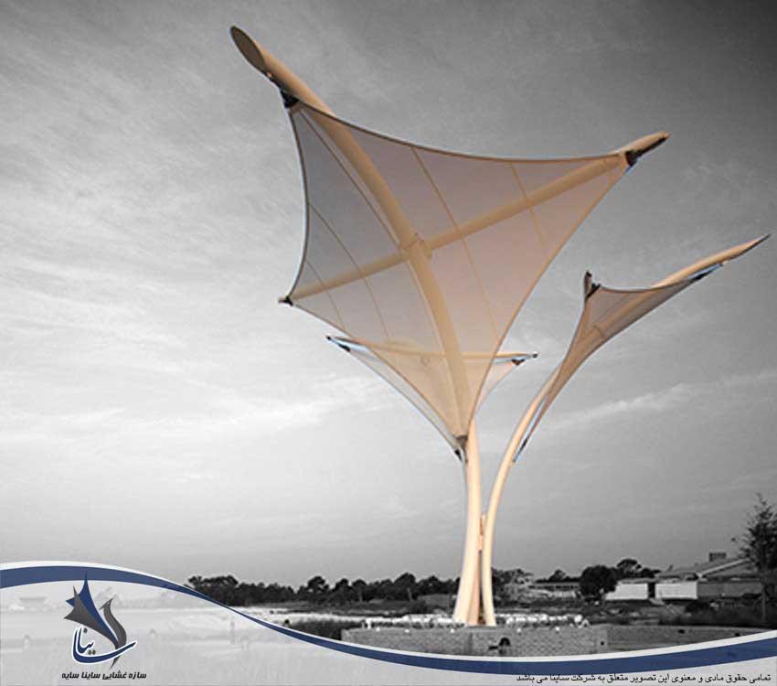 سایبان چادری طرح فالکون مقاوم در برابر هر میزان سرعت باد