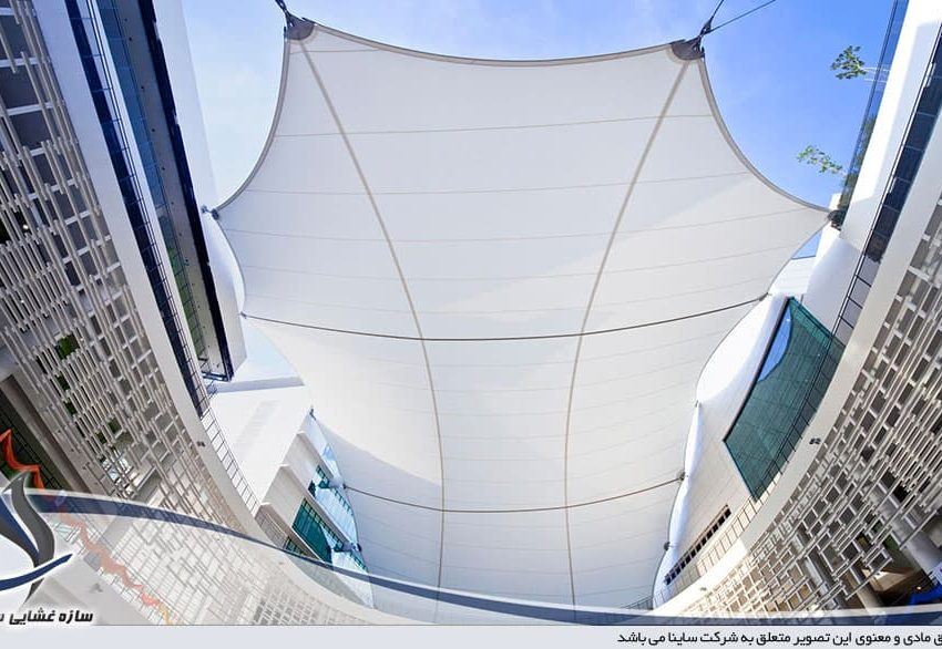 طراحی سایه بان چادری محوطه