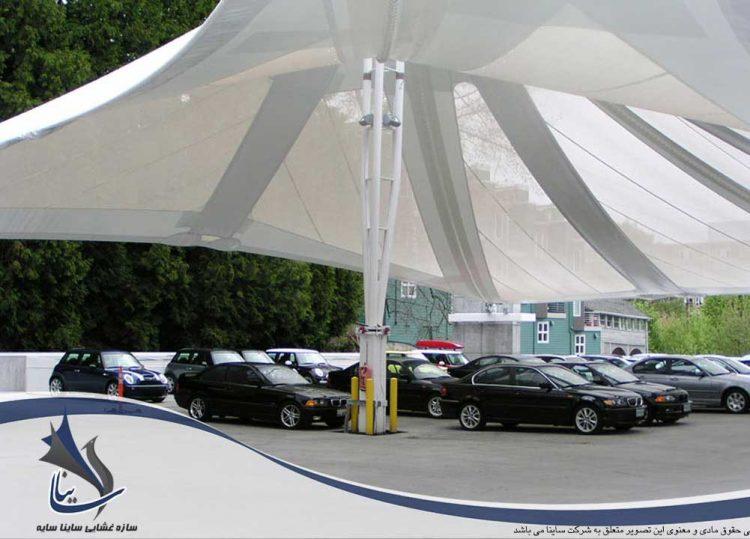 پارکینگ چادری شرکت BMW شهر پرتلند