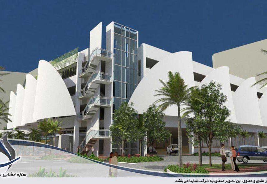 3D max fabric facade