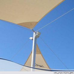 fabric tensile lighting conection