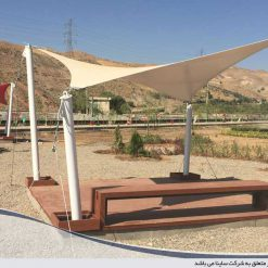 tensile fabric canopy in park