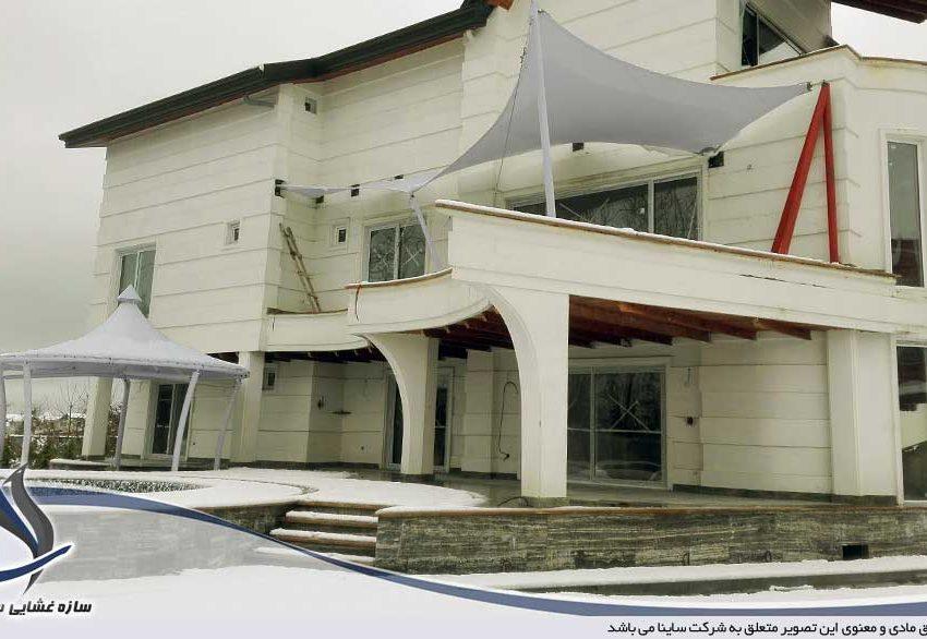 villa tensile fabric sunshade