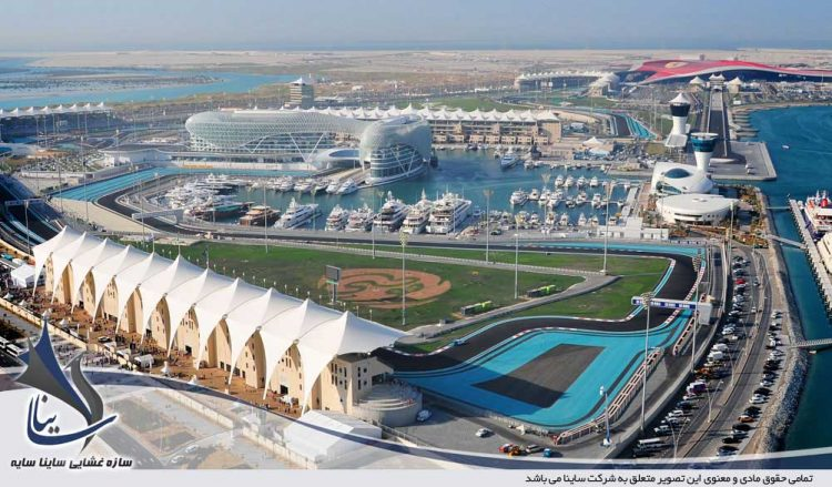 yas island lanscape view