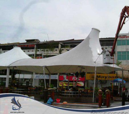 تمیز کردن سازه چادری