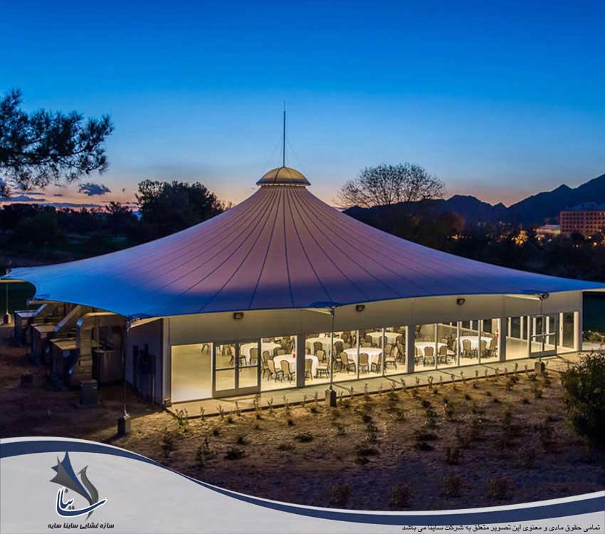 سقف پارچه ای باغ تالار