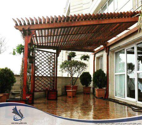 سقف پرگولا | تفاوت پرگولا و سازه چادری