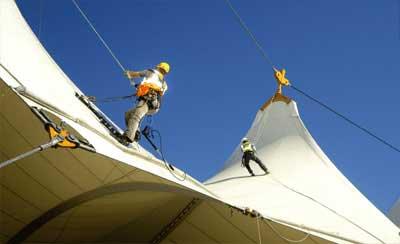 شستشو سازه چادری | نگهداری سازه پارچه ای