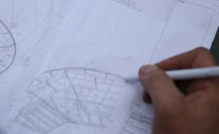 طراحی دیتیل سازه چادری | اسکیس سازه چادری