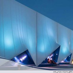 tensile fabric bussiness facade