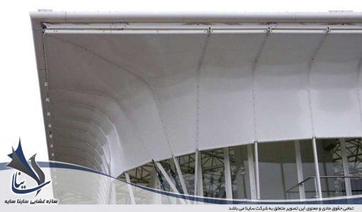 tensile pvc fabric facade