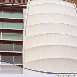 tensile pvc fabric facade structure