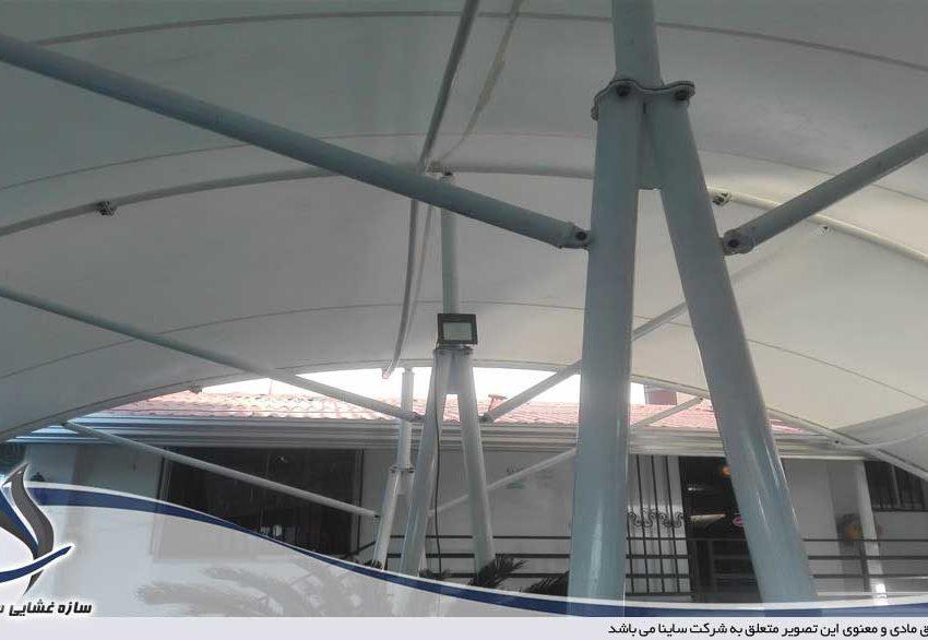پروژه سقف چادری رستوران پیتزا پارک در بابلسر