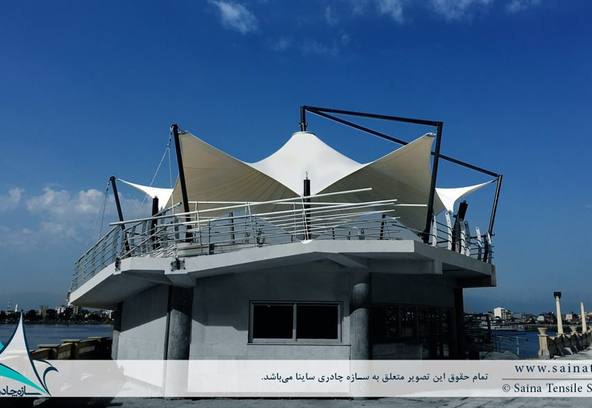 پروژه اجرای سازه چادری دکوراتیو موج شکن غربی بندر انزلی