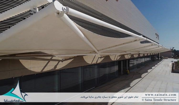 پروژه اجرای سایبان پارچه ای ورودی ترمینال فرودگاه