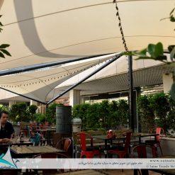 سایبان پارچه ای کافه رستوران بابلیون