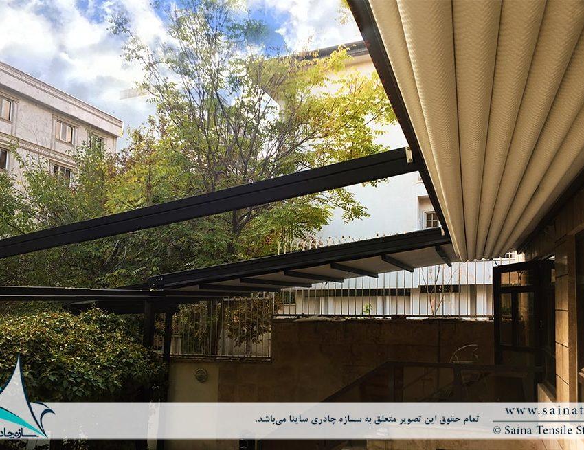 پروژه سقف متحرک کافه نیاوران
